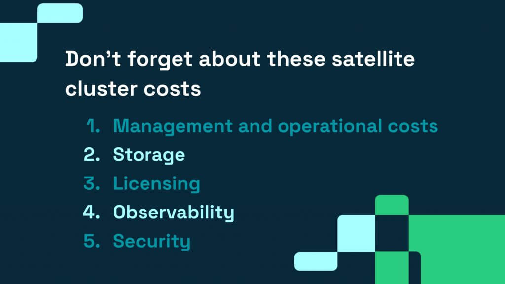 AWS Kubernetes satellite costs