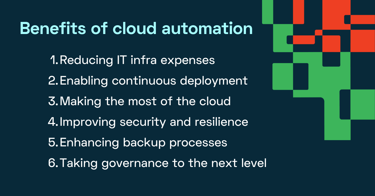 Benefits of cloud automation